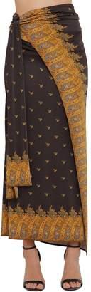 Paco Rabanne Printed Jersey Long Skirt