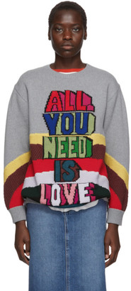 Stella McCartney Grey The Beatles Edition Virgin Wool All You Need Is Love Sweater