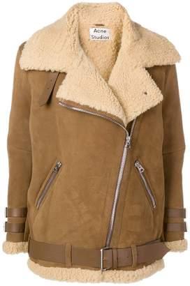 Acne Studios Velocite suede shearling jacket