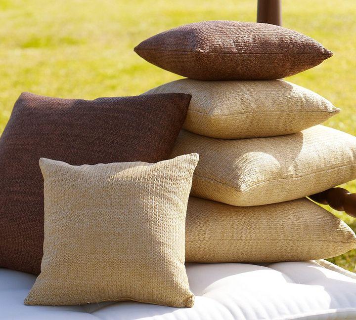 Faux Natural-Fiber Outdoor Pillow