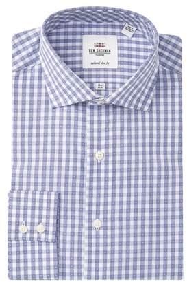 Ben Sherman Tailored Slim Fit Checkered & Polka-Dot Dress Shirt