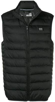 Love Moschino padded zipped vest