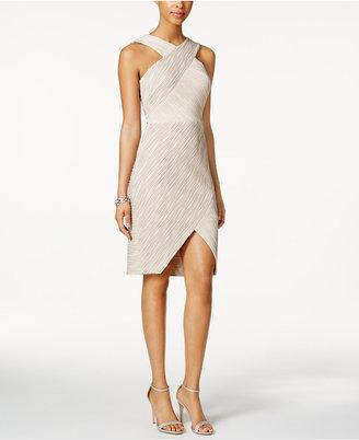 Jax Metallic Stripe Crisscross Halter Dress $138 thestylecure.com