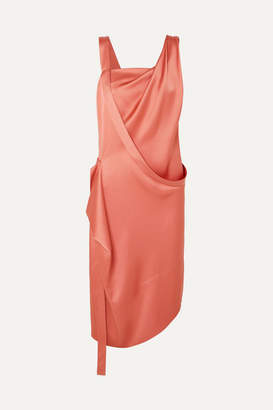 Vivienne Westwood Thea Draped Asymmetric Satin Dress - Blush