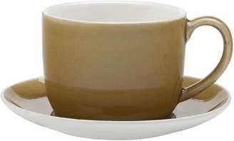 Maxwell & Williams Artisan Cup & Saucer, Turmeric, 280ml