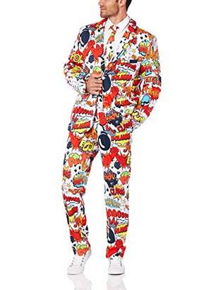 Smiffys Men's Comic Strip Suit with Jacket Trousers and Tie