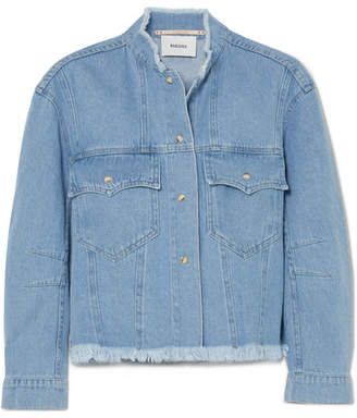 Nanushka - Cyphre Frayed Denim Jacket - Blue