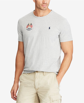 Polo Ralph Lauren Men's Big & Tall Embroidered T-Shirt $55 thestylecure.com
