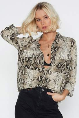 Nasty Gal Snakes One Relaxed Shirt