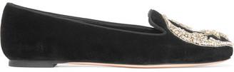 Alexander McQueen - Embellished Velvet Slippers - Black $1,070 thestylecure.com