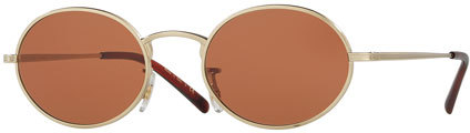 Oliver Peoples Oliver Peoples Empire Suite Monochromatic Oval Sunglasses, Orange