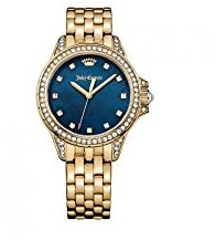 Juicy Couture Women's 'Malibu' Quartz Tone and Gold Plated Casual Watch(Model: 1901492) $105 thestylecure.com