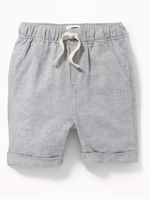 Old Navy Cuffed Linen-Blend Shorts for Toddler Boys