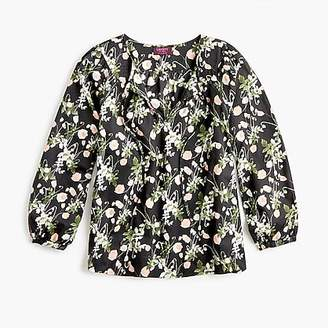 J.Crew Point Sur peasant top in Libertyu0026reg; poppy dream