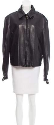 Gianni Versace Buckle-Accented Leather Jacket