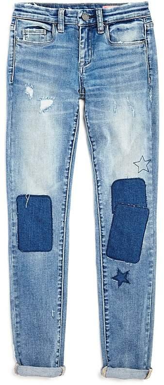 BLANKNYC Girls' Patchwork Boyfriend Jeans - Big Kid