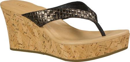 UGGWomen's UGG Natassia Metallic Basket Wedge Sandal