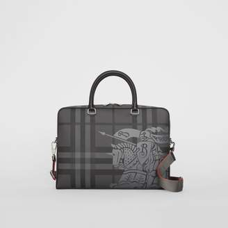 Burberry EKD London Check and Leather Briefcase
