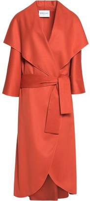 Vionnet Leather-Trimmed Wool-Felt Coat