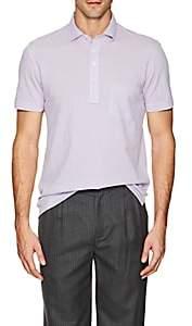 Napoleonerba Men's Cotton Piqué Polo Shirt - Purple