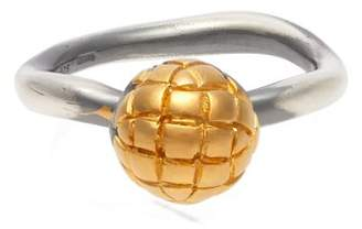 Bottega Veneta Dichotomy Intrecciato Ring - Womens - Gold