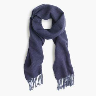 J.Crew Dual-patterned cashmere scarf