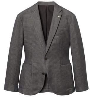 Mango Man MANGO MAN Slim-fit textured linen blazer