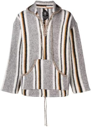 Poan striped hooded sweater