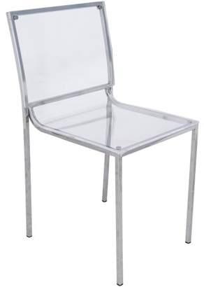clear LeisureMod Modern Almeda Acrylic Dining Chair,