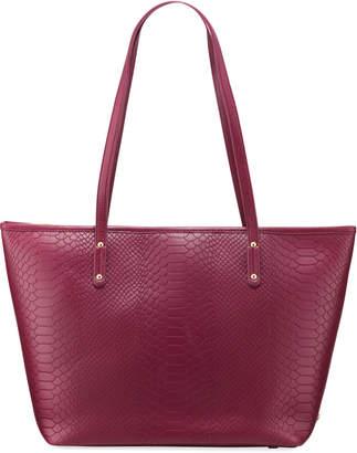 GiGi New York Taylor Embossed Python Leather Tote Bag