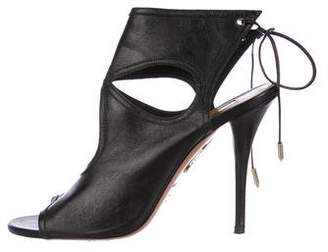 Aquazzura Sexy Thing 85 Leather Sandals