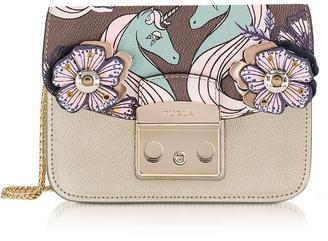 Furla Golden Khaki Metropolis Mini Crossbody Bag w/Detachable Unicorn Flap $380 thestylecure.com