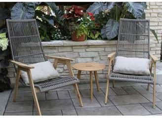 L.L. Bean L.L.Bean Wicker Teak Chairs, Set of Two