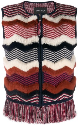 Cara Mila Nellie knitted shearling gilet