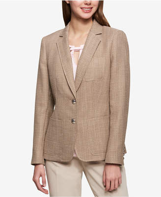 Tommy Hilfiger Tweed Two-Button Jacket