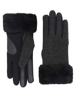 Isotoner Faux Fur-Trimmed Gloves