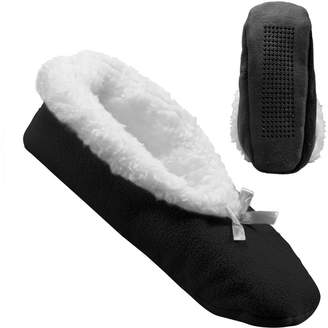 fbbb949f8765 Silverts Disabled Elderly Needs Womens Extra Wide Fleece Slippers -  Slip-Resistant Tread