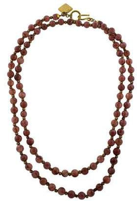Ashley Pittman Sunstone Shanga Bead Necklace