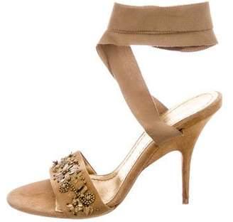 Donna Karan Sequin Lace-Up Sandals