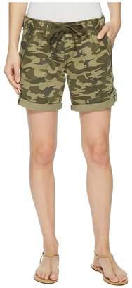 Jag Jeans Petite Petite Adeline Denim Shorts in Drab Green Camo Women's Shorts
