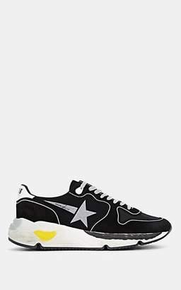 Golden Goose Men's Running Sole Mixed-Material Sneakers - Black