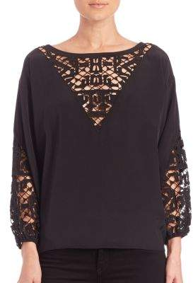 Townsen Embroidered Peasant Top