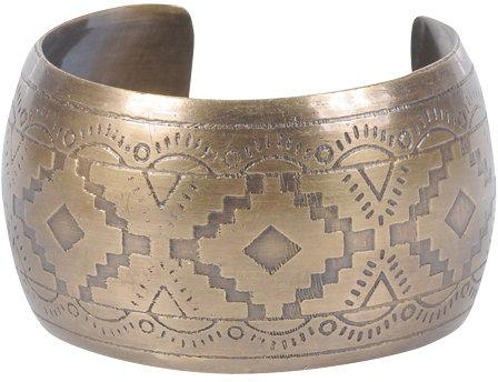 Aztec Etched Cuff