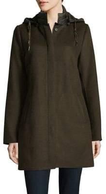 Dawn Levy Wool Blend Puffer Back Coat