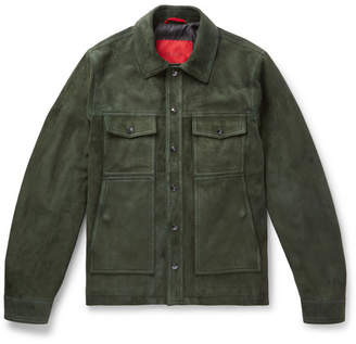 Isaia Slim-Fit Suede Jacket