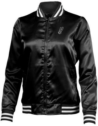 Antigua Women's San Antonio Spurs Strut Satin Bomber Jacket