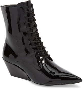 a2f9d93e804e Calvin Klein Jeans Faith Pointy Toe Laced Bootie