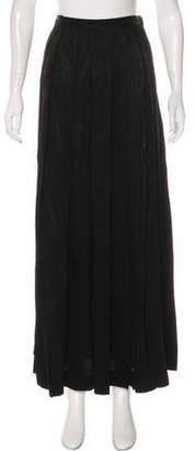 Saint Laurent Vintage Jacquard Maxi Skirt