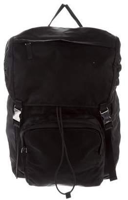 Prada Tessuto Impuntu Drawstring Backpack