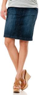 Motherhood Indigo Blue Secret Fit Belly® Knee Length Straight Fit Maternity Skirt